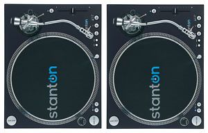 2 Stanton St 150 Direct Drive Turntables Twin Turntable DJ Set SEALED Mint