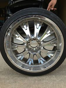 22 inch Black Chrome Rims