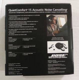 Bose QuietComfort 15 QC 15 Brand New Factory SEALED Never Used