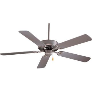 Minka Aire 42 Contractor Ceiling Fan in Brushed Steel