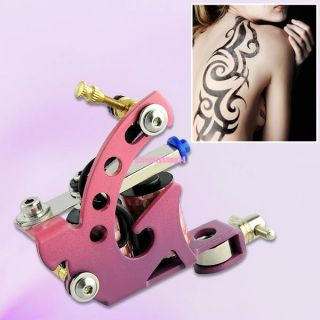Top Professional Handmade Alloy Tattoo Machine Shader Liner Kit Pink