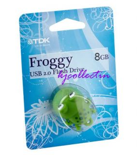 TDK Froggy 8GB 8g USB Flash Pen Drive Disk Memory Stick Rubber Green Frog