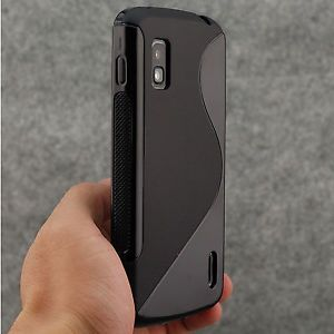 High Quality Black Non Slip s Wave Soft TPU Gel Case for Google Nexus 4 LG E960