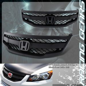 2011 2012 Honda Accord Sedan JDM Black ABS Plastic Mesh Grid Front Grille Grill