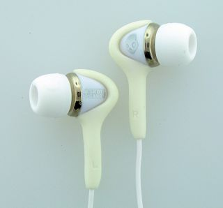 Skullcandy Smokin Buds White Chrome with Volume Control Brand New 878615003484