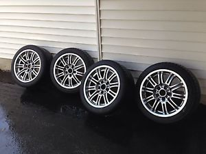 "18"" BMW E46 M3 Staggered Wheels and Tires 18x8 18x9 Wheels and Tires O"