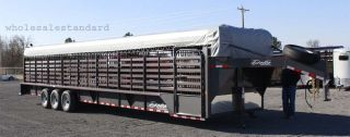 36' Delta Cattleman Livestock Trailer Canvas Top Pickup Arkansas Commercial Duty
