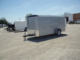 8118 New 2013 Atlas 6x14' Enclosed Cargo Trailer 2990 GVW Ramp Dr LEDs Side Dr