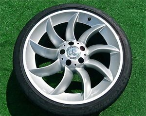 Set Perfect Genuine AMG Mercedes Benz McLaren SLR Wheels New Michelin Tires
