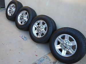 "Factory Dodge RAM 2500 3500 2012 17"" Polished Wheels Rims Michelin Tires"