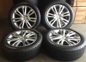 "18"" 2013 Hyundai Genesis OE Wheels 4 Rims Silver 18x8 and Michelin Tires"