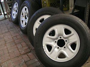 "4 New 2012 18"" Toyota Tundra Steel Wheels Michelin Tires 255 70 18"