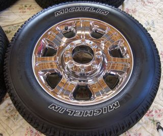 "4 2013 Ford F250 F350 20"" Factory Chrome Alloy Wheels Rims Michelin Tires"
