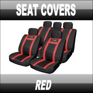 Leather Look Car Seat Covers Seat Covers Red Audi BMW