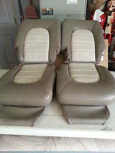 00 03 Ford Expedition Leather Seat Covers Eddie Bauer Two Tone 2nd Row Bucket