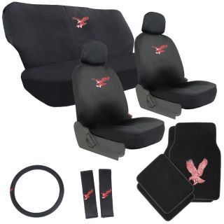 15pc Red Eagle Bird Truck Seat Covers with Floor Mats