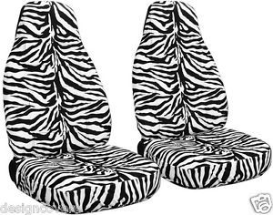 99 04 Ford Mustang Front Zebra Car Seat Covers Choose