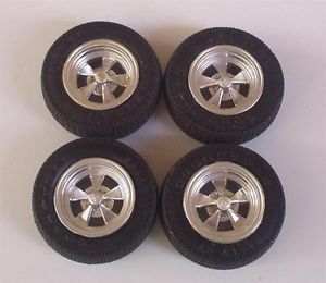4 Goodyear Tires 4 Cragar SS Mag Wheels Only 1 16 Scale Model Car Parts Used