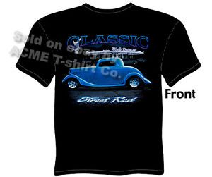 Hot Rods Shirts 1933 1934 Ford Tee 33 34 Street Rod T Shirts Sz M L XL 2XL 3XL