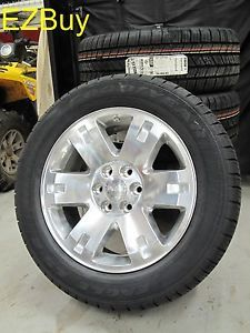 "20"" GMC Yukon Sierra Brand New Factory Style Polished Wheels Goodyear Tires 5307"