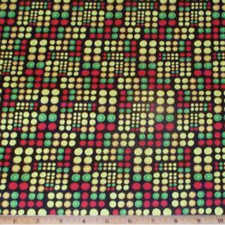 Geometric Dots Brites on Black Hot Rods Ride Again Fabric 1 1 3yds Quilt Cotton