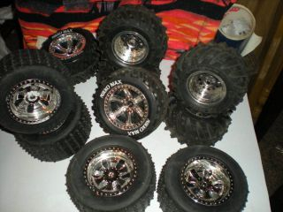 RC SCX10 Nikko Monster Truck Tires Wheels Lot