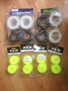 Losi TLR 22T Stadium Truck Tires Rims Proline Panther New