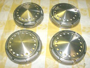Mopar Plymouth Dodge Four Cop Police Wheel Dog Dish Hubcaps