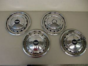 1957 Chevy Chevrolet Bel Air Original Hubcaps Wheel Covers Set of 4