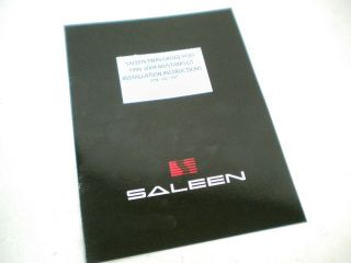 Saleen Mustang Twin Dash Gauge Pod Install Manual 96 04