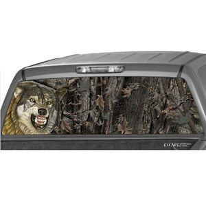 Wolf Camo Rear Window Graphic Print Tint Truck SUV Jeep See Through Screen Decal