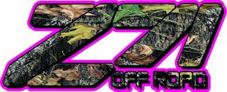 Set of Z71 4x4 Break Up Camo Pink Outline Truck Decals