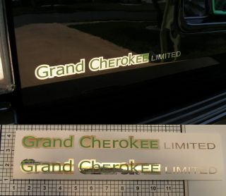 Jeep Grand Cherokee Limited Decals Chrome Custom Colors