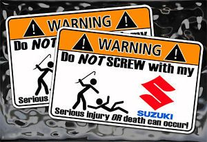 Suzuki Samurai 4x4 Off Road Warning Sticker Rock Climb