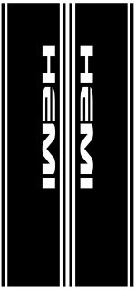 Truck Vertical Rear Panel Decal with Hemi Cutouts Fit Dodge Avail Over 19 Colors