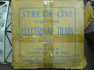 Louis Marx Co Train Set Vintage Stream Line Electric in Box American Flyer TR