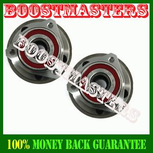 97 06 Jeep Wrangler Front Wheel Bearing Hub Assembly Full Cast Rotors 1 Pair
