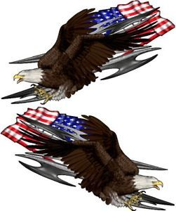 Car Truck Decals American Flag Tribal Eagle Semi Trailer Vinyl Graphics 6ft