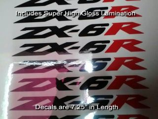 Ninja zx6r Tail Decals Set X2 Red Black Super Glossy Matches Original Nice