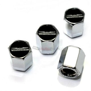4 Ford Thunderbird Logo Chrome ABS Car Tire Wheel Air Stem Valve Caps Covers