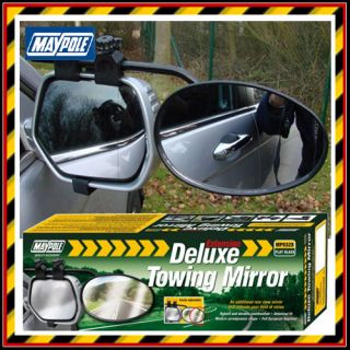 Maypole Deluxe Extension Towing Flat Glass Mirror Caravan Wing Mirror