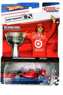 Hot Wheels IZOD IndyCar Series Dario Franchitti 10 Target IndyCar Trophy Card