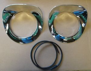 55 56 57 Chevy Truck Chrome Headlight Bezels New
