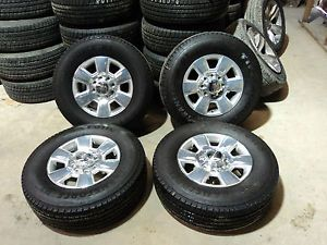 "2014 Dodge 2500 RAM 18"" Aluminum Wheels and LT275 70R18 Firestone Tires"