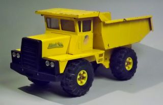 Buddy L Pressed Steel Mack Truck Yellow Dump Truck Toy USA