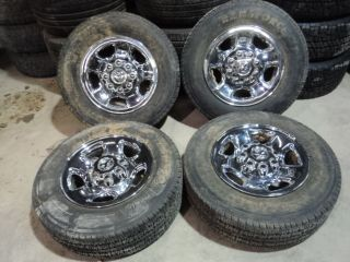 Factory Dodge 2500 3500 Chrome Wheels 8x6 5 Firestone Tires 245 70R17