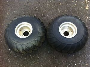 Ohtsu Pro Wedge Tires Vintage Paddle Mud Snow Tires with Aluminum Rims 22x11 8