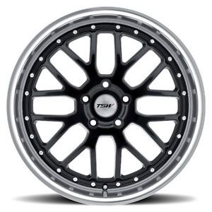 "17"" TSW Black Wheels and Snow Tires Package Volkswagen MK5 MK6 GTI Jetta Audi A3"