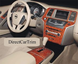 2009 Nissan Murano Wood Grain Interior Dash Trim Kit