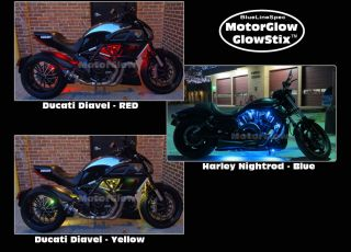 Motorglow Glowstix 15 Color LED Motorcycle Glow Kit for Harley Davidson
